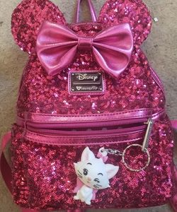 Loungefly sequin pink minnie backpack